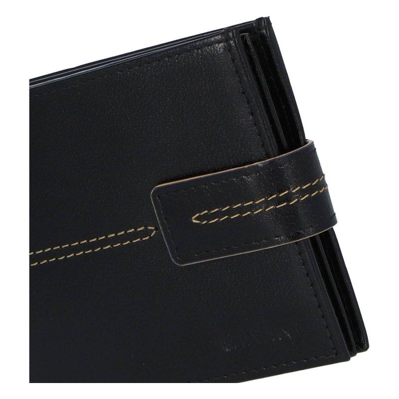Pánská koženková peněženka Ellini Emilio, černá