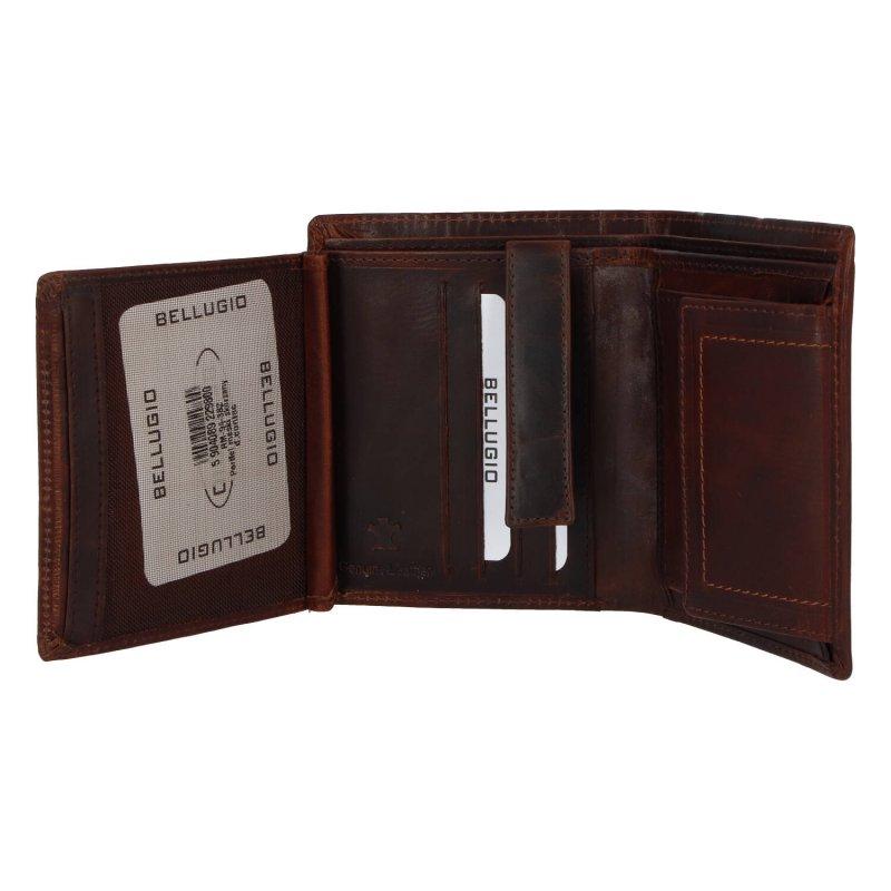 Luxusní pánská peněženka Bellugio Sammy, hnědá
