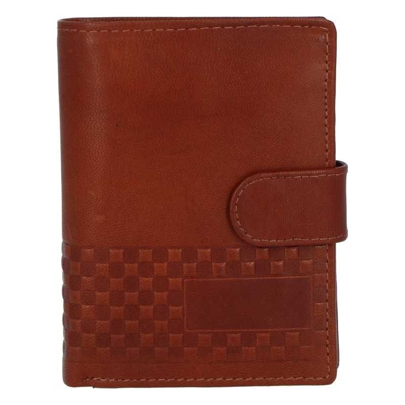 Moderní kožená pánská peněženka Bellugio Stan, hnědá
