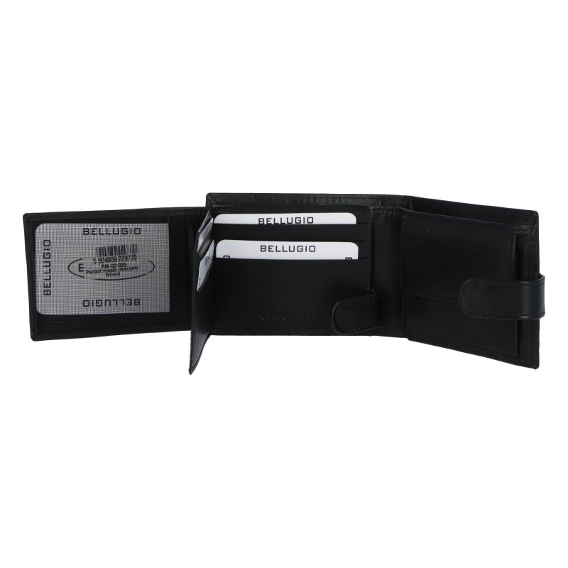 Moderní pánská kožená peněženka Bellugio Dean, černá