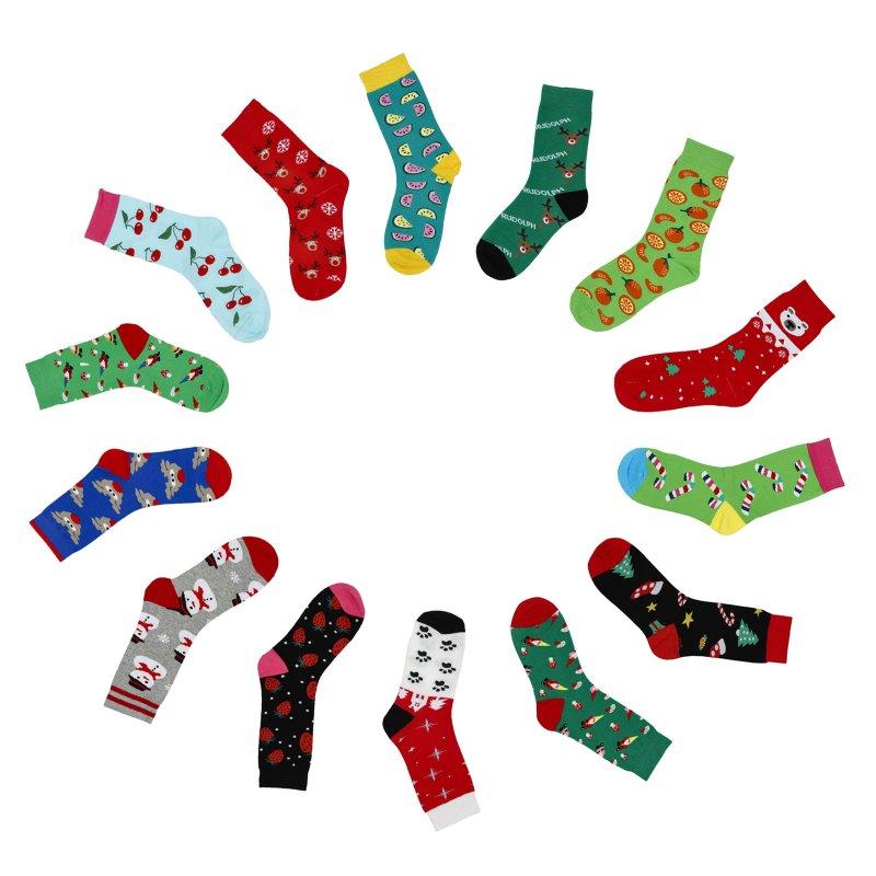 Ponožky Vánoce stopa ve sněhu, červeno bílé, 35-39