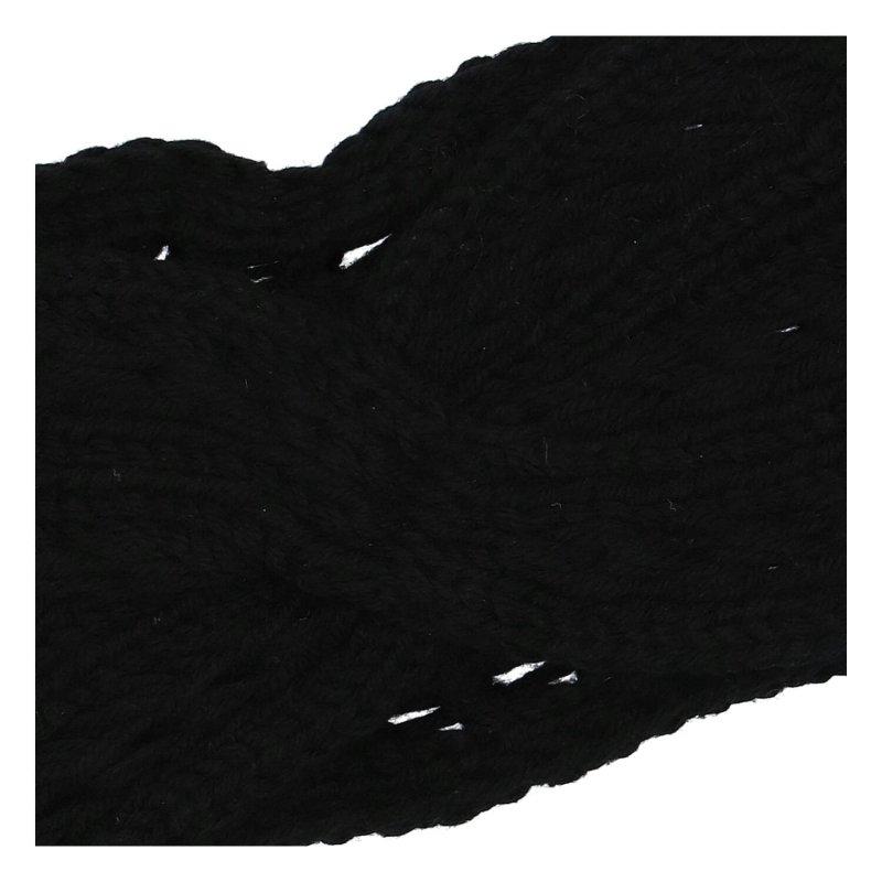 Pěkná zimní dámská pletená čelenka Zina, černá