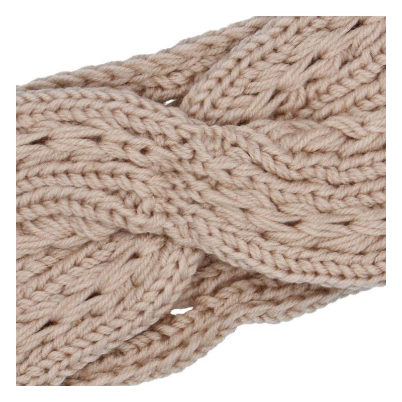 Pěkná zimní dámská pletená čelenka Zina, starorůžová