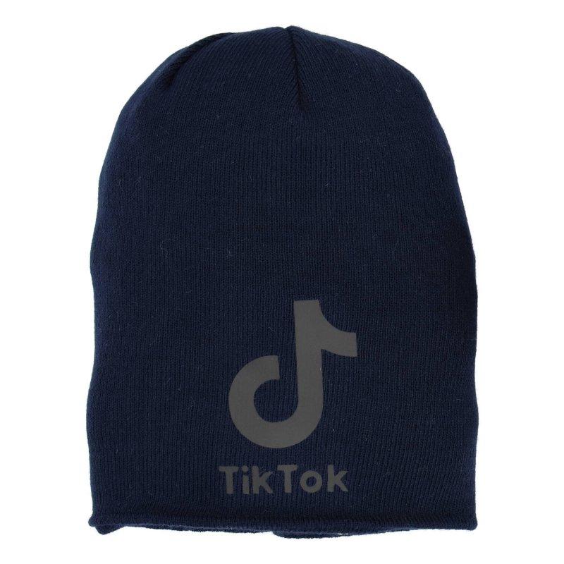 Zimní sada čepice a nákrčník, tmavě modrá