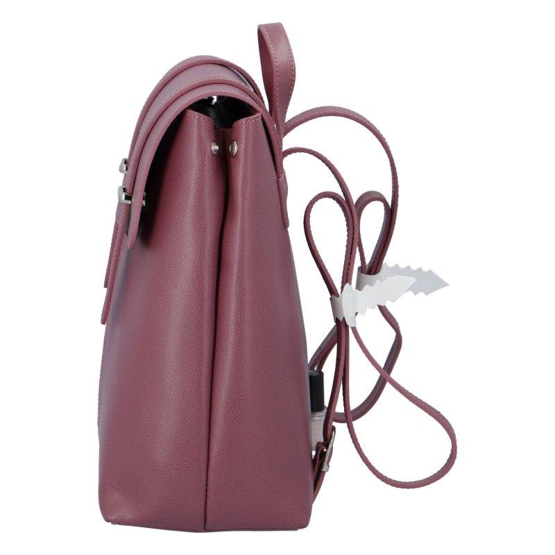 Dámský kožený luxusní batoh Anna růžový