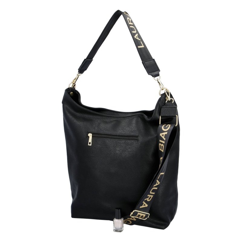 Pohodlná koženková dámská kabelka Giorgia Laura Biaggi, černá