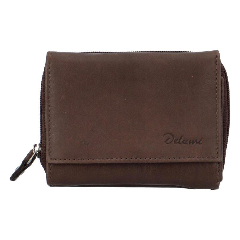 Kožená peněženka Delami Roxy, hnědá