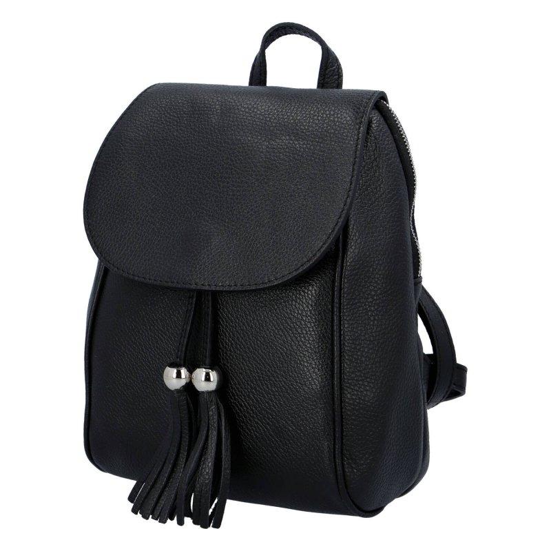 Originální kožený kabelko-baťůžek HELENE, black