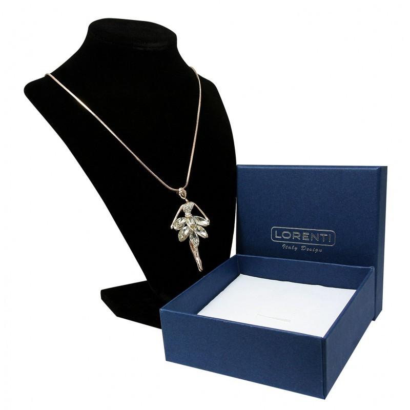 Dámský náhrdelník Baletka s kamínky, zlatorůžový