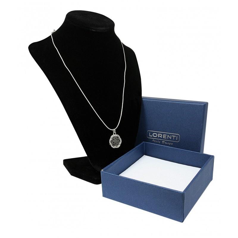 Dámský náhrdelník Flower, stříbrný