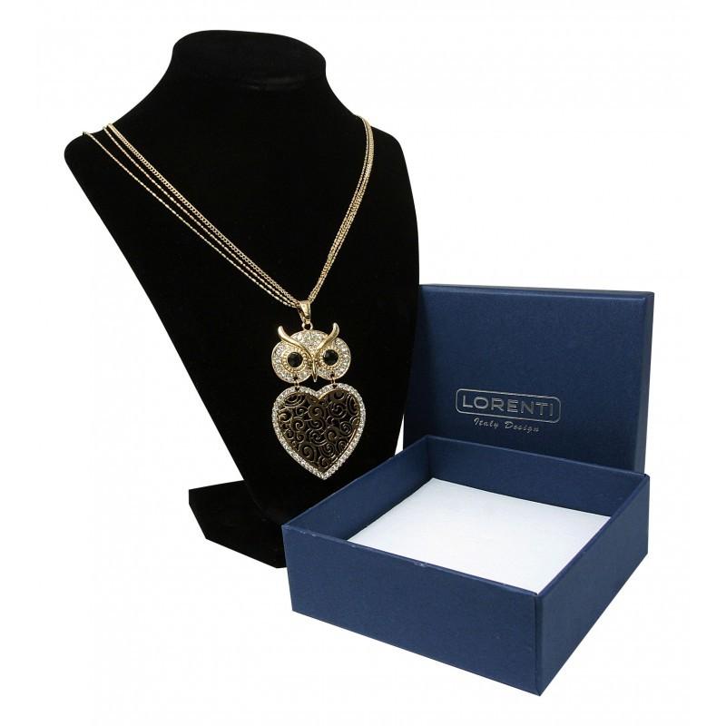Dámský náhrdelník s přívěskem Velká Sova moudrosti, zlatý