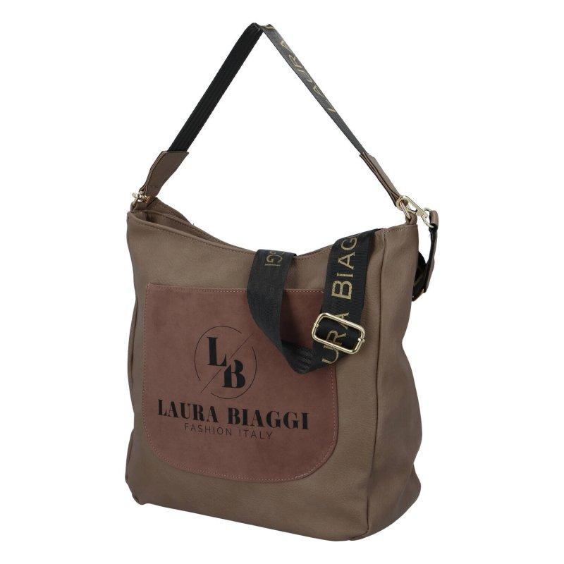 Dámskí koženková kabelka Laura country, taupe