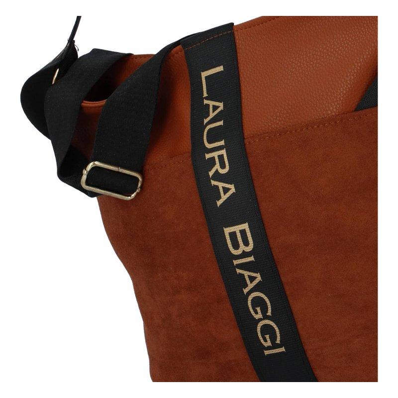Stylová dámská kabelka Laura Brown, hnědá