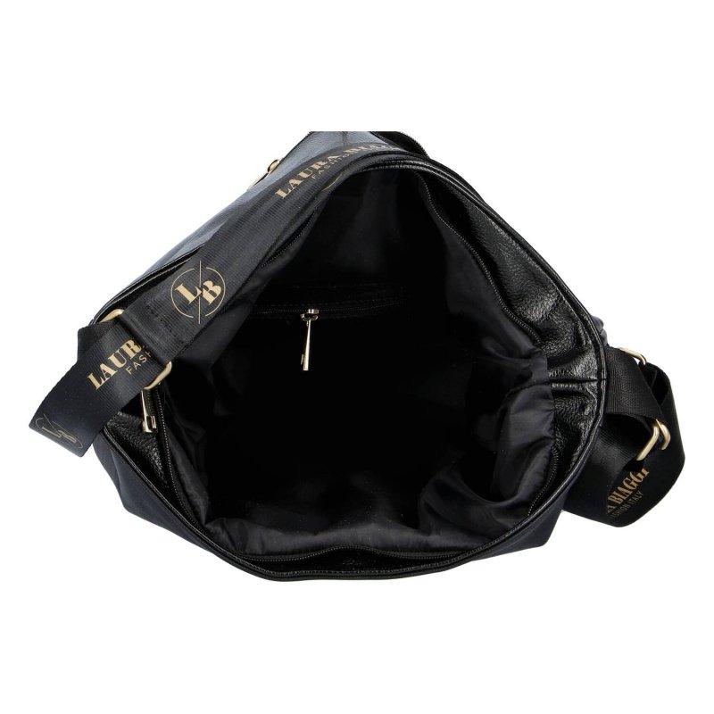 Moderní dámská koženková kabelka Laura Stylish, černá