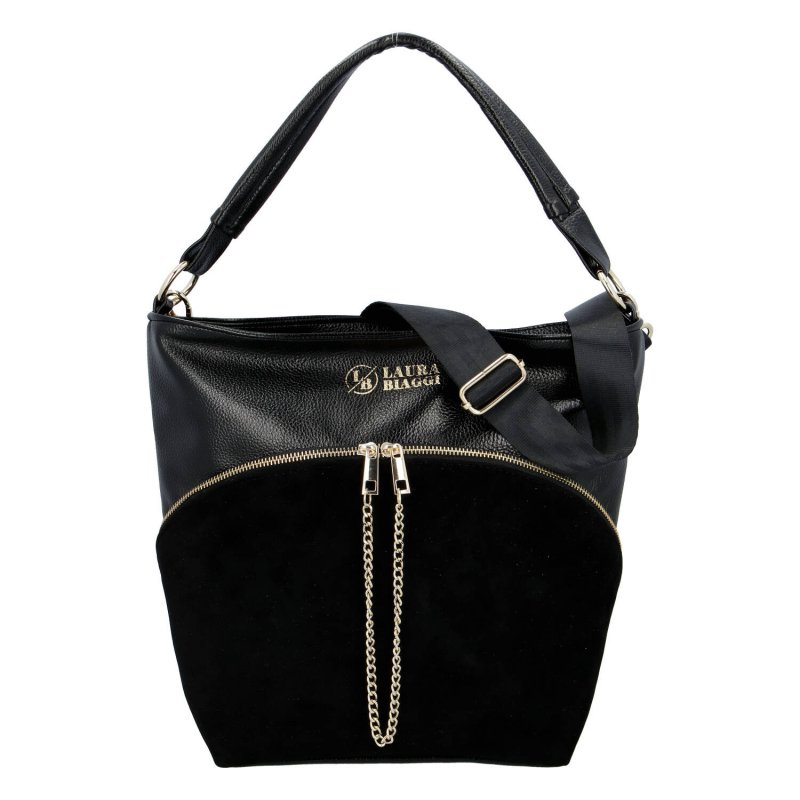 Praktická dámská koženková kabelka Laura wild, černá