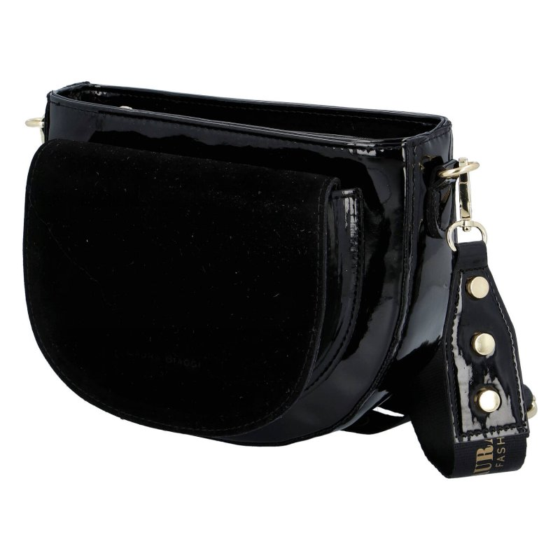 Trendová dámská kabelka Laura Blackish, černá