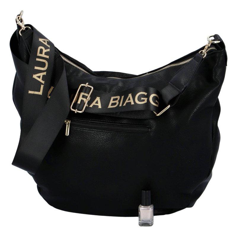 Trendová dámská kabelka Laura B. Elegant, černá