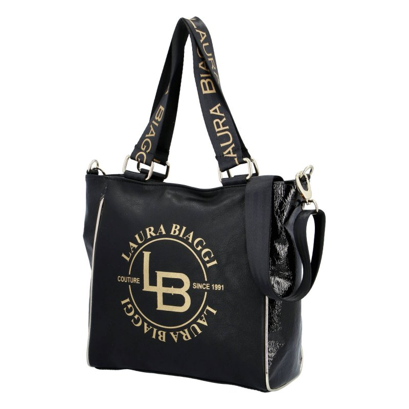 Dámská trendová kabelka Laura Biaggi Simona, černá
