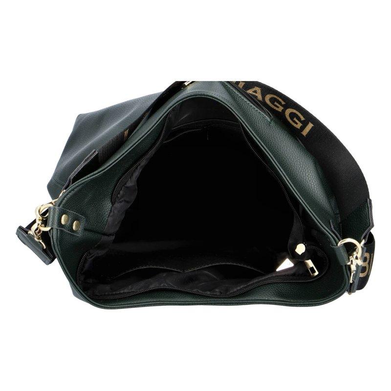 Pohodlná dámská koženková kabelka Nina Laura Biaggi, zelená