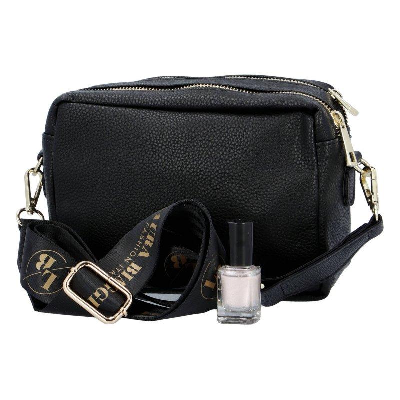 Dámská koženková kabelka Laura Biaggi Italy fashion, černá