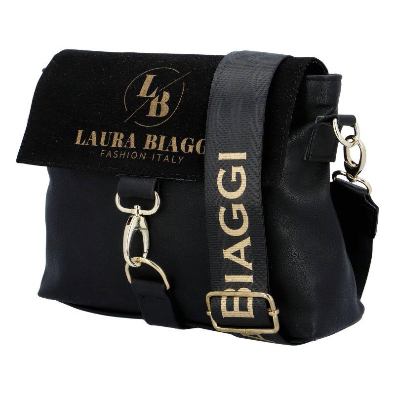 Nepřehlédnutelná dámská koženková crossbody Mari Laura Biaggi, černá