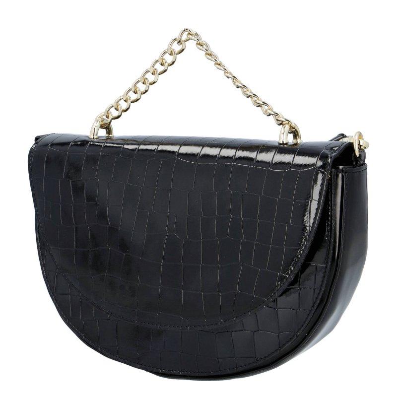 Dámská společenská kabelka Laura B.  croco, černá