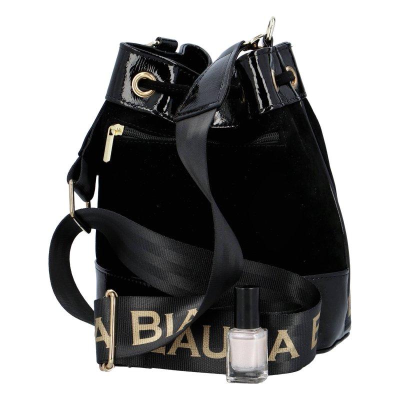 Luxusní dámský semišový pytel Marína Laura Biaggi, černá
