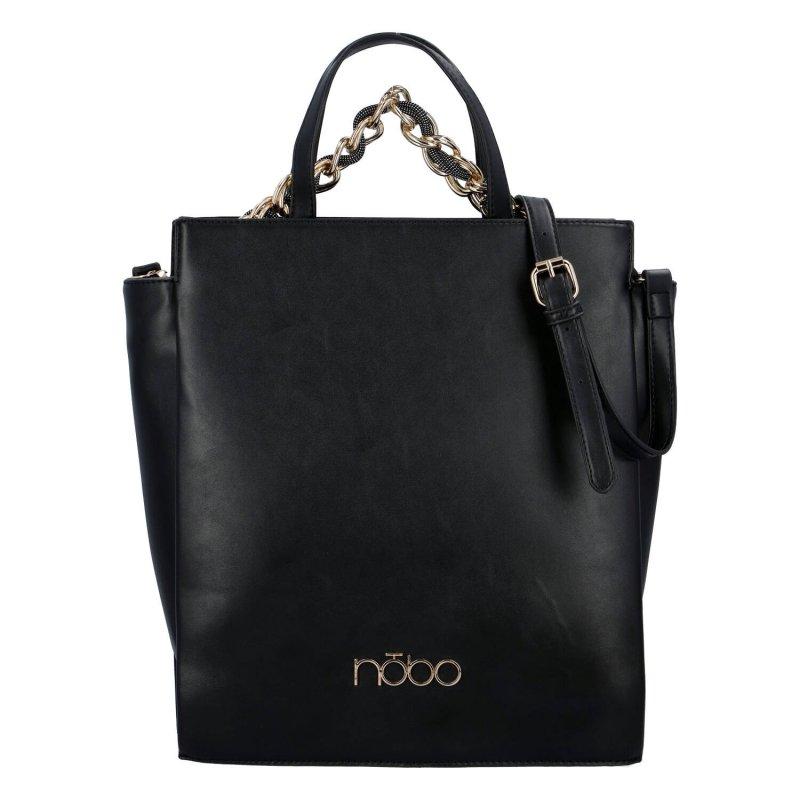 Moderní dámská koženková kabelka NOBO Modern Isila, černá