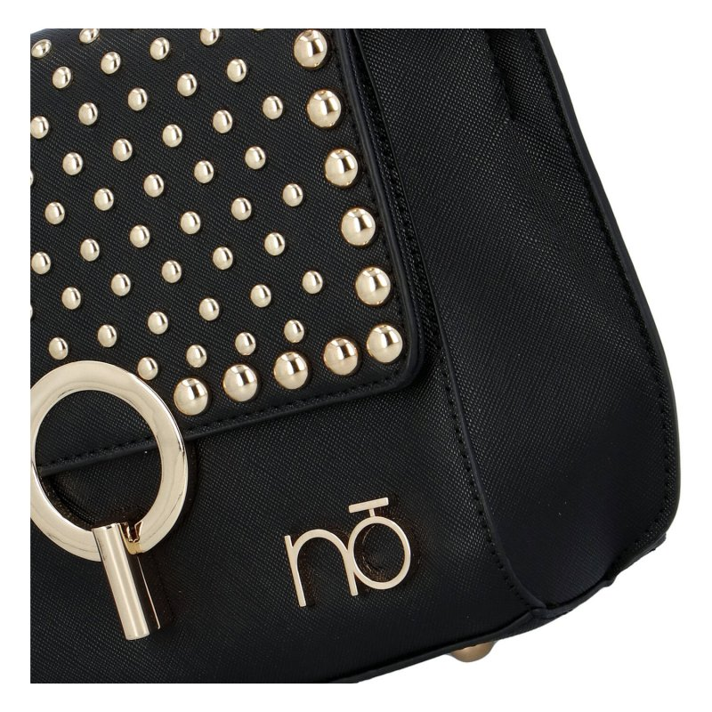 Extravagantní dámská koženková kabelka NOBO Cecil, černá