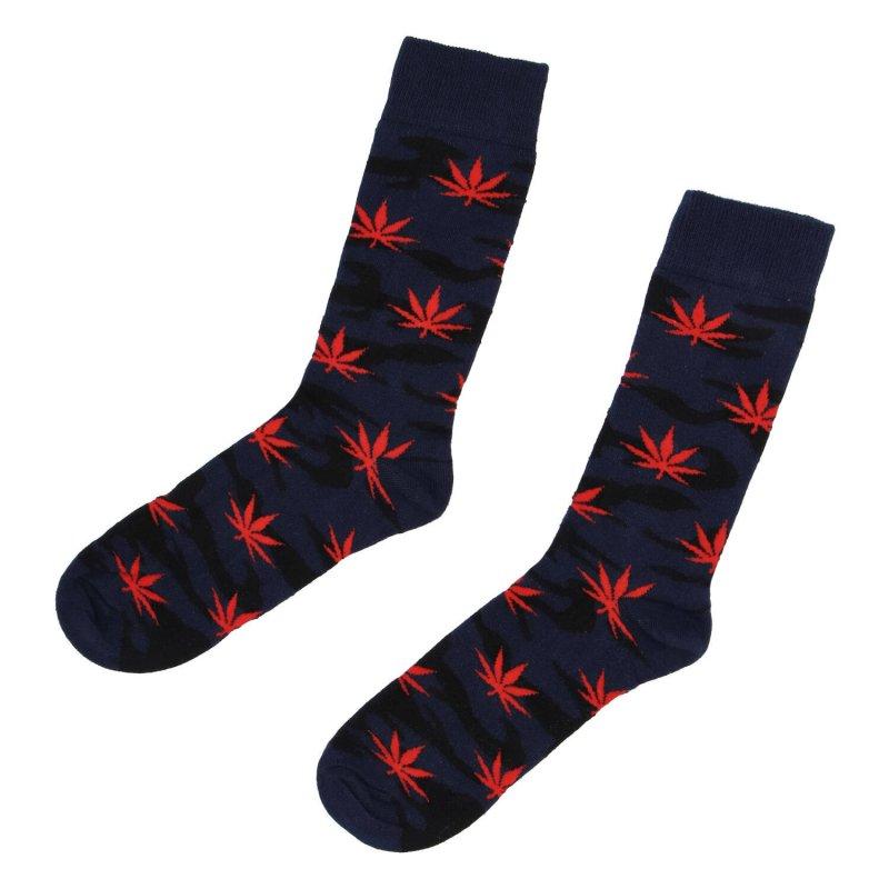 Ponožky Marihuana 43-46, červená