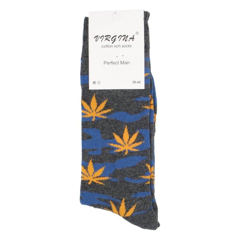 Ponožky Marihuana 43-46, oranžová