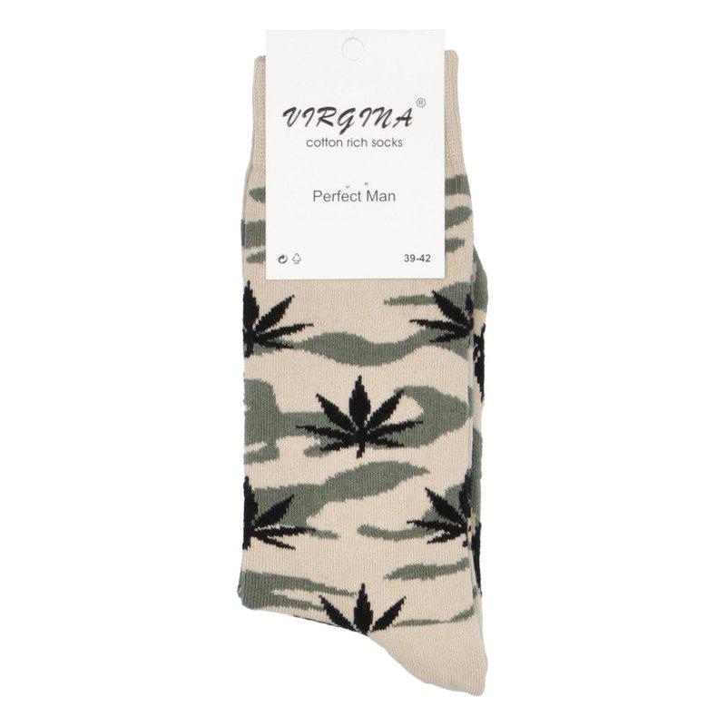 Ponožky Marihuana 43-46, béžová