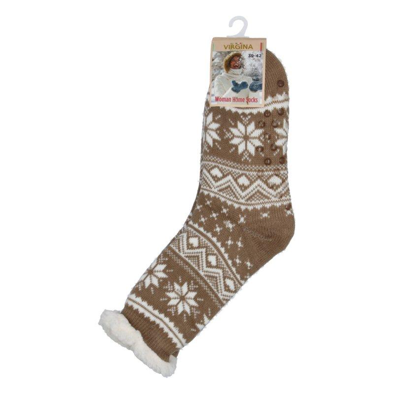 Hřejivé ponožky Sibil, tmavě béžová vel. 39-42
