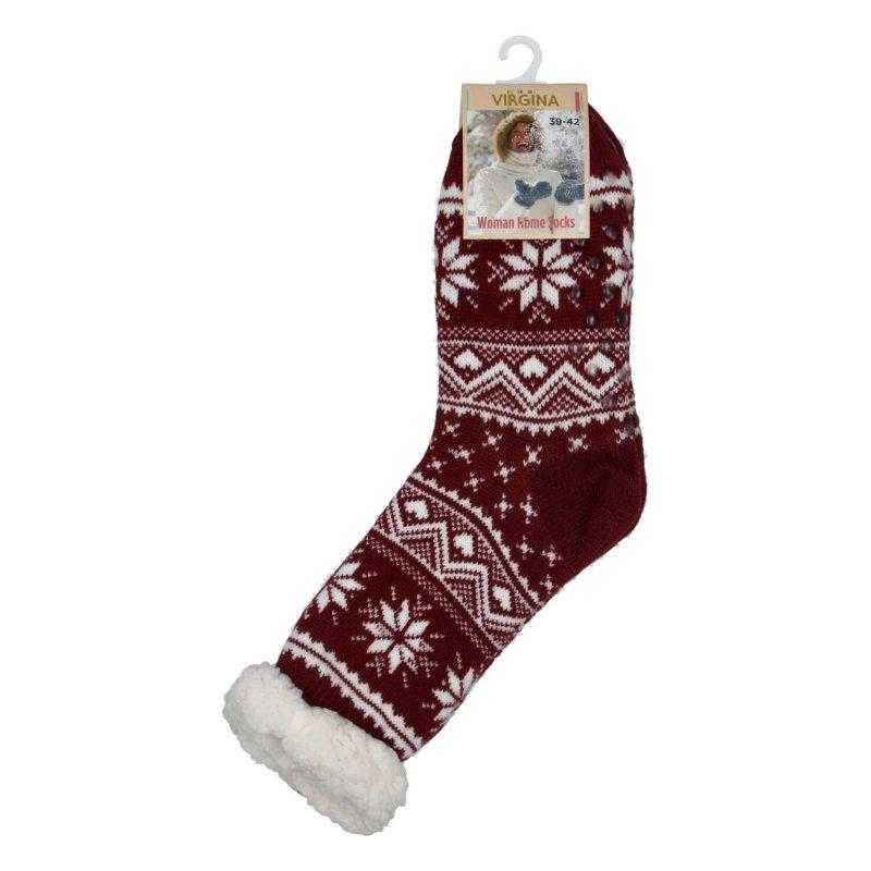 Hřejivé ponožky Sibil, vínová vel. 39-42