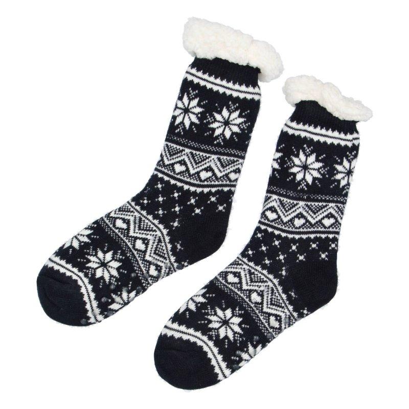 Hřejivé ponožky Sibil, modré, Vel. 35-38