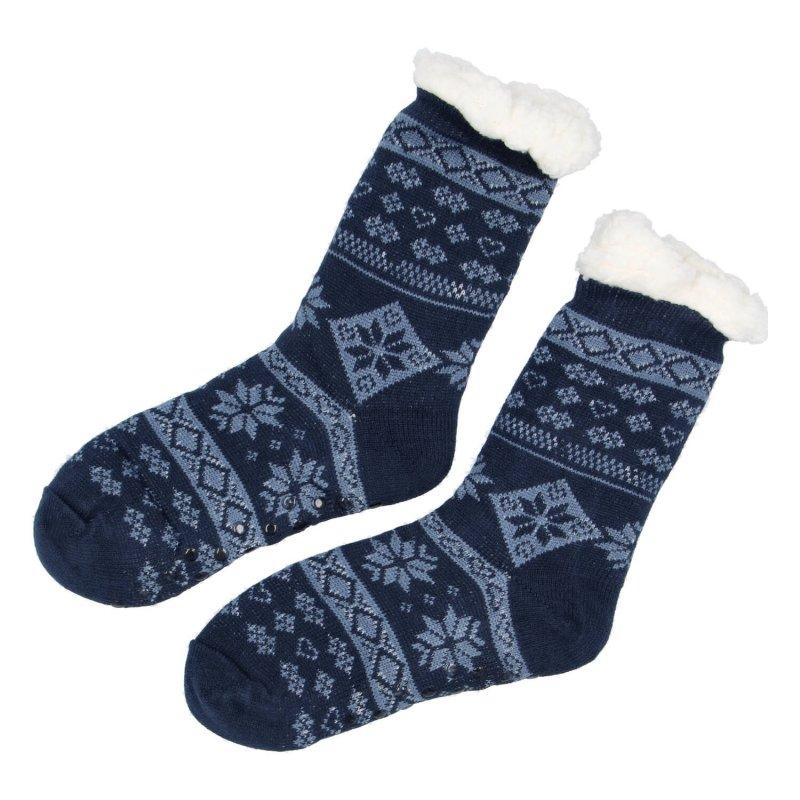 Hřejivé ponožky Sibil, tmavě modrá vel. 43-46