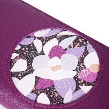 Dámská koženková peněženka VUCH limitovaná edice Nymphaea Blue, fialová