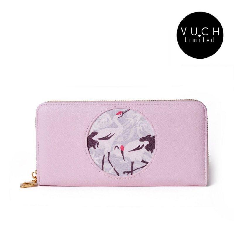 Dámská koženková peněženka VUCH limitovaná edice Le Voile Japonaise, růžová