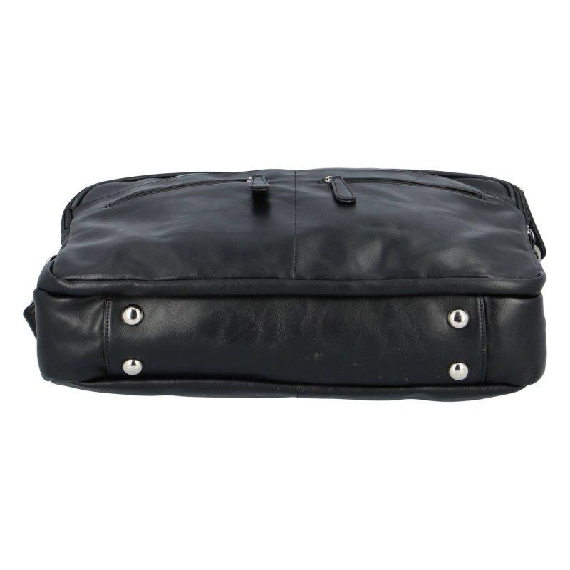Praktická koženková pracovní taška Juli, černá
