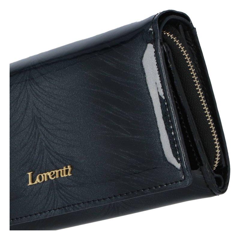 Elegantní dámská kožená velká peněženka Laura, černá