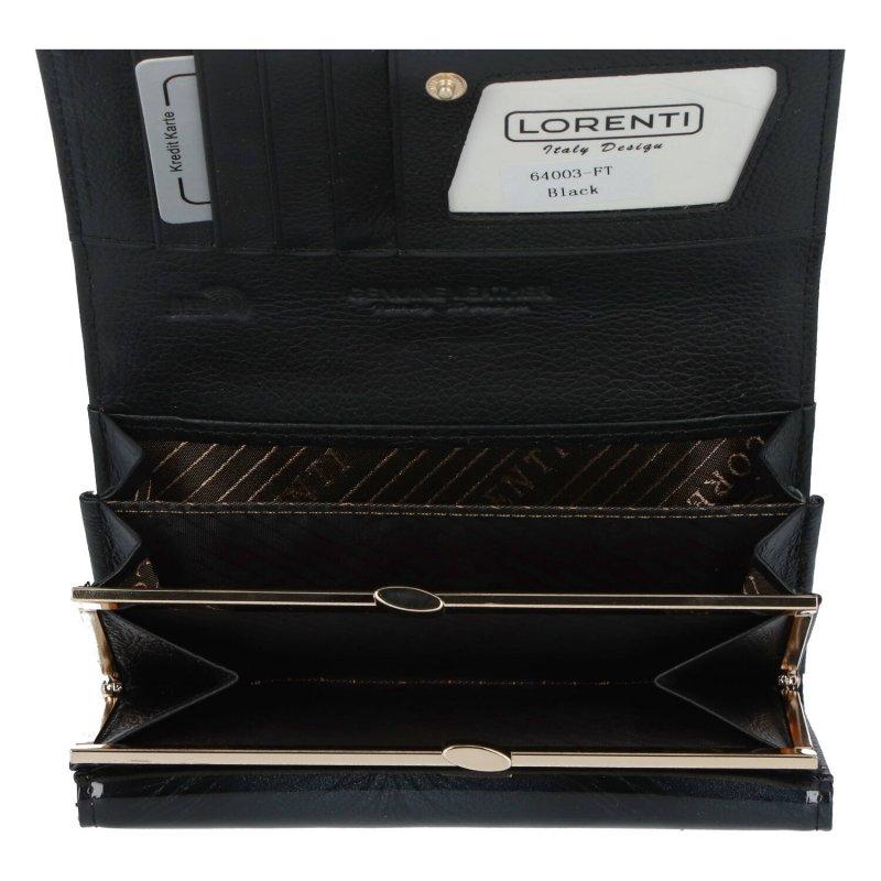 Nepřehlédnutelná dámská kožená peněženka Elise, černá