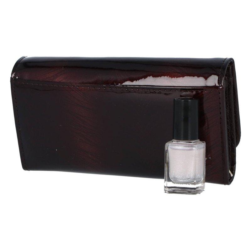 Luxusní dámská kožená peněženka Lora, hnědá