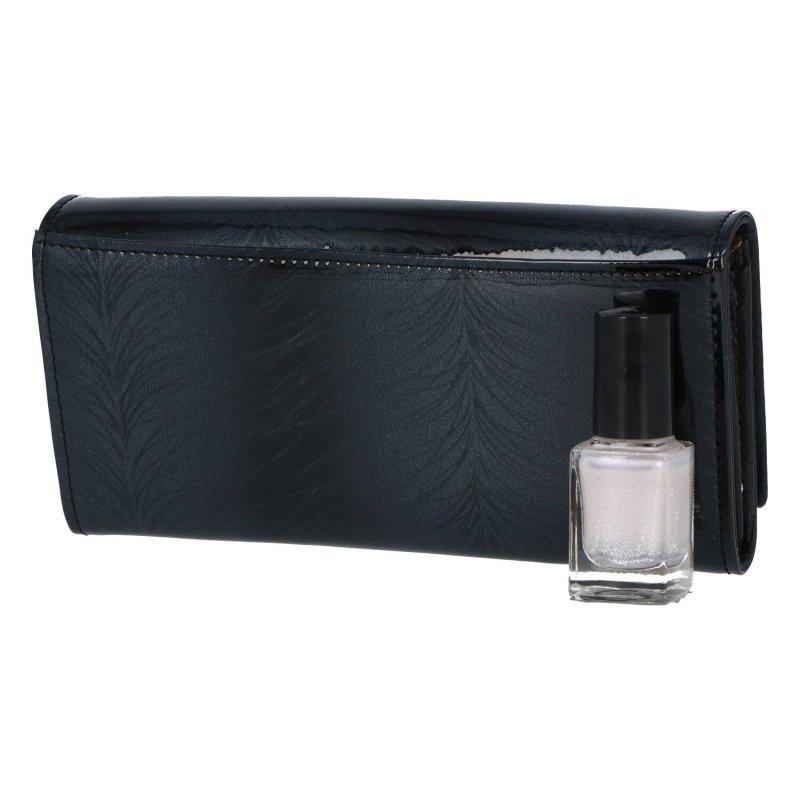 Velká a prostorná dámská luxusní kožená peněženka Albi, černá
