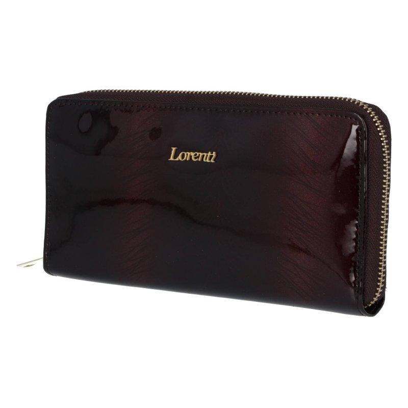Velká a praktická dámská kožená peněženka se zipem Sonja, hnědá