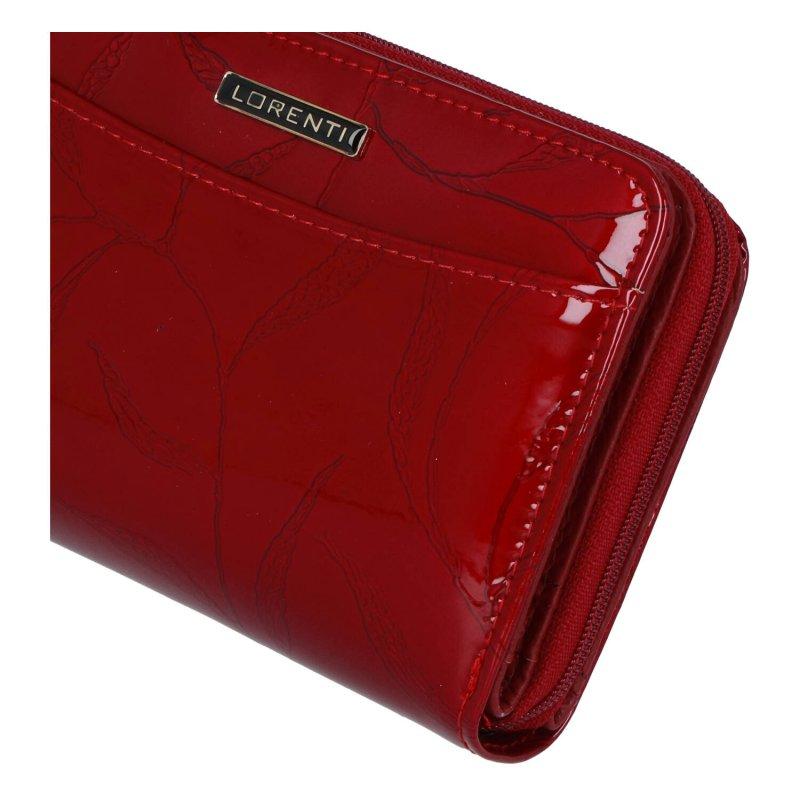 Pěkná menší dámská kožená peněženka Lili, červená