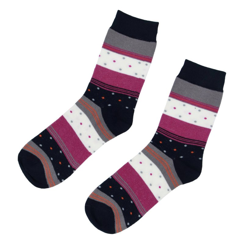 Ponožky Proužky 38-41, fuchsia