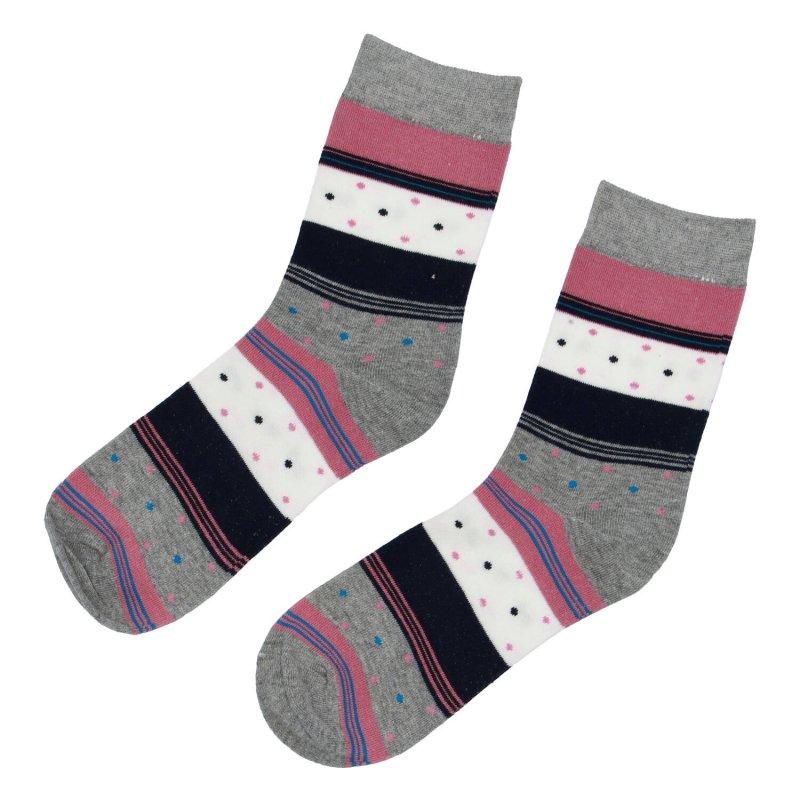 Ponožky proužky 35-38, růžová