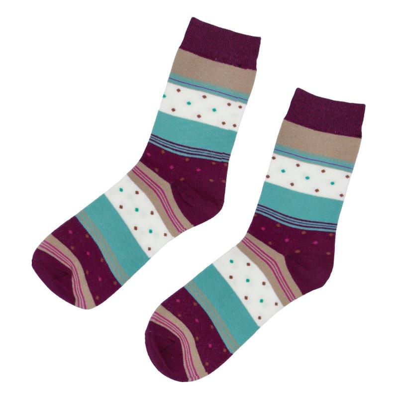 Ponožky Proužky 38-41,bordo