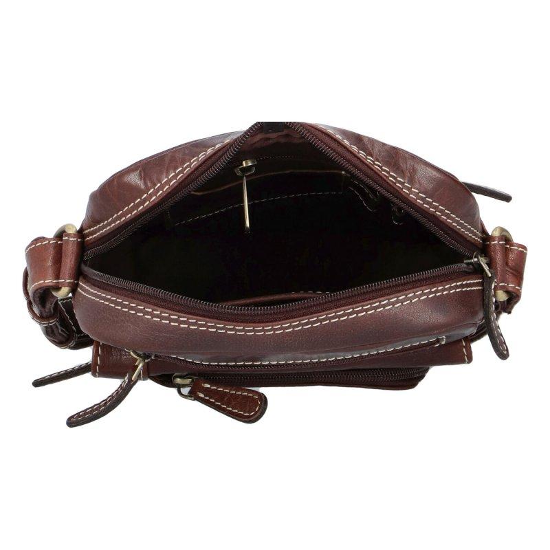 Elegantní pánská kožená taška Diviley Nevada line, tmavší hnědá