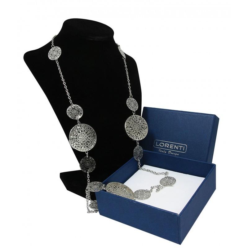 Dámský náhrdelník Circle of happiness, stříbrnýe